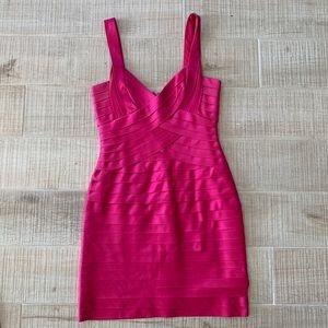BCBG Maxazria Hot Pink Cocktail Dress size 4